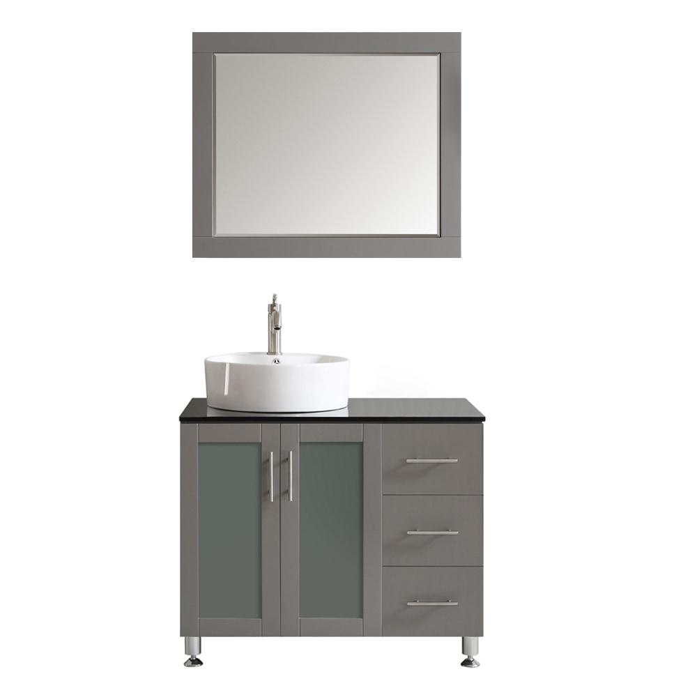 Vinnova Vinnova Bathroom Vanities Tuscany Collection 36 Inches Vanity Sets Gray