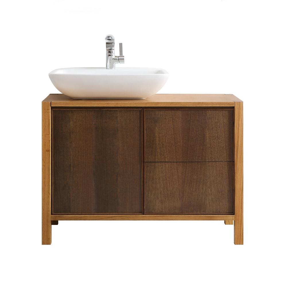 Vinnova Vinnova Bathroom Vanities Monza Collection 40 Inches Mirrorless Red Oak