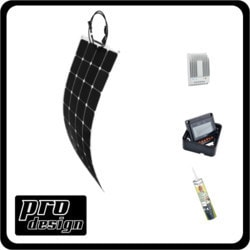 Prodesign 100 Watt Flexi MPPT Solar Kit Model 151396531 Clean Energy Off-Grid Cabin Systems