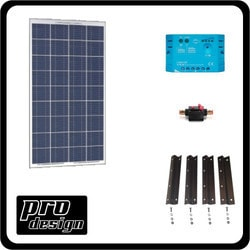 Prodesign 100 Watt 12V PWM Solar Kit Model 151396541 Clean Energy Off-Grid Cabin Systems