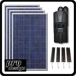 Prodesign 1040 Watt MPPT Solar Kit Model 151396631 Clean Energy Off-Grid Small House Systems