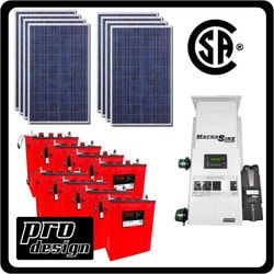 Prodesign Offgrid Kit Magnum (Canadian Certified) 2120 W Model 151360851 Clean Energy Off-Grid Homestead Systems
