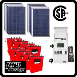 Prodesign Offgrid Kit Magnum (Canadian Certified) 2385 W Model 151360831 Clean Energy Off-Grid Homestead Systems