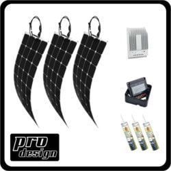 Prodesign 300 Watt Flexi MPPT Solar Kit Model 151396511 Clean Energy Off-Grid Cabin Systems
