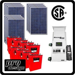 Prodesign Offgrid Kit Magnum (Canadian Certified) 3180 W Model 151360841 Clean Energy Off-Grid Homestead Systems