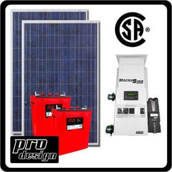 Prodesign Offgrid Kit Magnum (Canadian Certified) 530 W Model 151360001 Clean Energy Off-Grid Cabin Systems