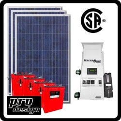 Prodesign Offgrid Kit Magnum (Canadian Certified) 795 W Solar Kit Model 151360011 Clean Energy Off-Grid Cabin Systems