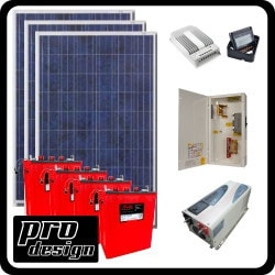 Prodesign Offgrid Kit Tracer 795W/24V Model 151359971 Clean Energy Off-Grid Cabin Systems