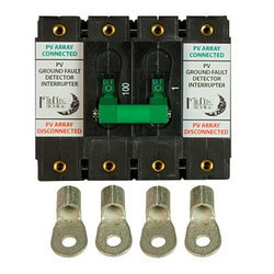 Midnite Solar Inc MNEDC Gfp100Rt 2P Breaker Model 151391671 Clean Energy Breakers & Fuses