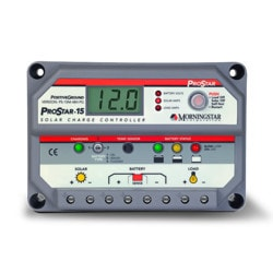 MorningStar ProStar 15A 48V PWM Controller with Meter Positive Ground Model 151396101 Clean Energy System Meters