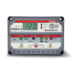 MorningStar ProStar 15A 12V 24V PWM Charge Controller with Meter Model 151396121 Clean Energy System Meters