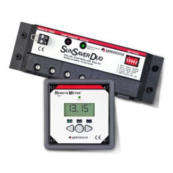 MorningStar SunSaver Duo 25A 12V PWM Controller with Meter Kit (2 Batt) Model 151396081 Clean Energy System Meters