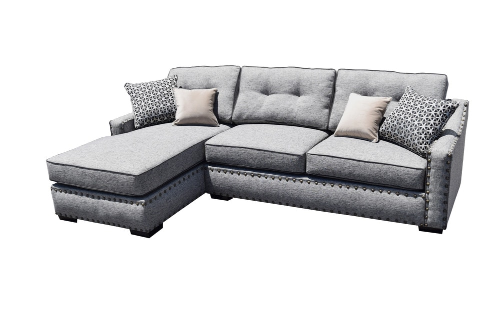 Gardena Sofa Llc Lambert Sectional Living Room Uphostery 2 Light Gray
