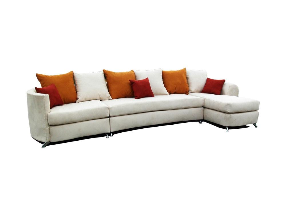 Gardena sofa llc paradise sectional living room for White velvet sectional sofa