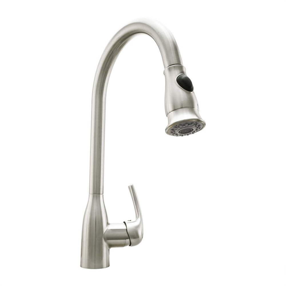 Cosmo cosmo kitchen faucet nickel cos kf776ss for Kitchen faucet recommendations