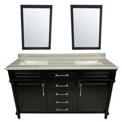 LUXE by Deluxe Vanity Continental Vanity & Mirror Model 151420361 Bathroom Vanities