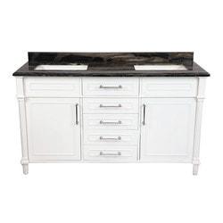 LUXE by Deluxe Vanity Continental Cabinet & Countertop Model 151418931 Bathroom Vanities