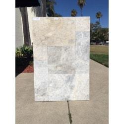 Ayyildiz Marble Talathello Silver Marble Paver Model 151501081 Outdoor Pavers
