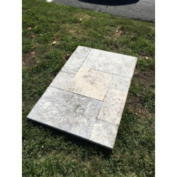 Ayyildiz Marble Silver Travertine Paver Model 151501761 Outdoor Pavers