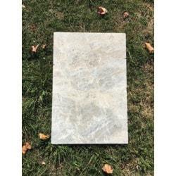 "Ayyildiz Marble Talathello Silver Marble Paver 16""x24"" Model 151508161 Outdoor Pavers"