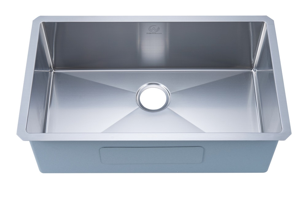 Nationalwares Undermount Stainless Steel 30 in. Single ...