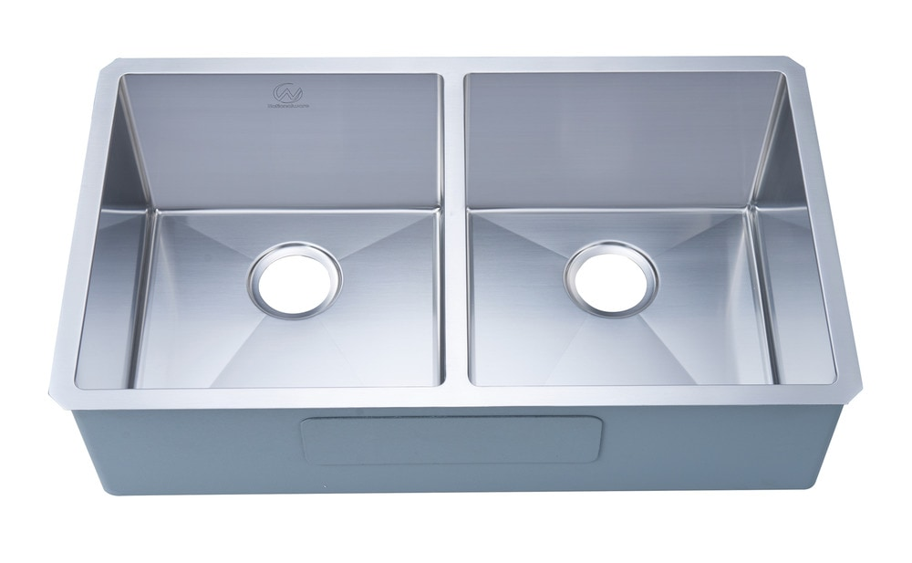 Nationalwares Undermount Stainless Steel 33 In Double