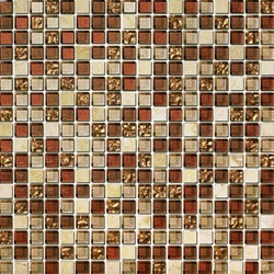 Tiles & Deco AMBAR BLEND GLASS AND MARBLE AMBER FEAST Model 151363111 Kitchen Glass Mosaics