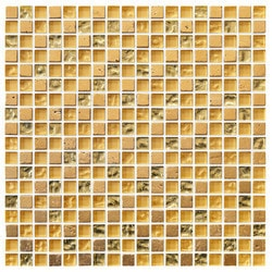 Tiles & Deco GOLDEN BRIDGE BLEND GLASS MOSAIC AND STONE BLEND GOLD Model 151363141 Kitchen Glass Mosaics