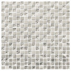 Tiles & Deco SILVER EMPIRE STATE GLASS MOSAIC AND STONE BLEND SILVER Model 151363171 Kitchen Glass Mosaics