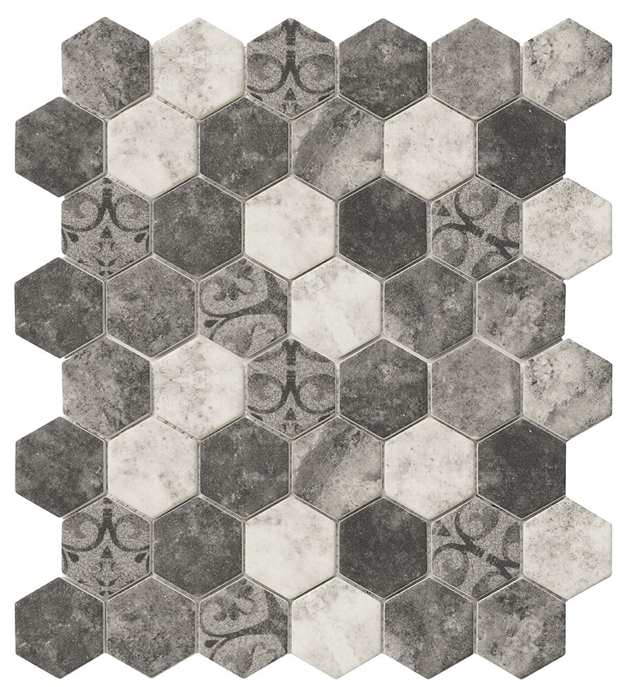 1 Hexagon Shaped Floor Tiles