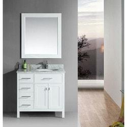 "Design Element London 36"" Single Sink Vanity Set Model 151724211 Bathroom Vanities"