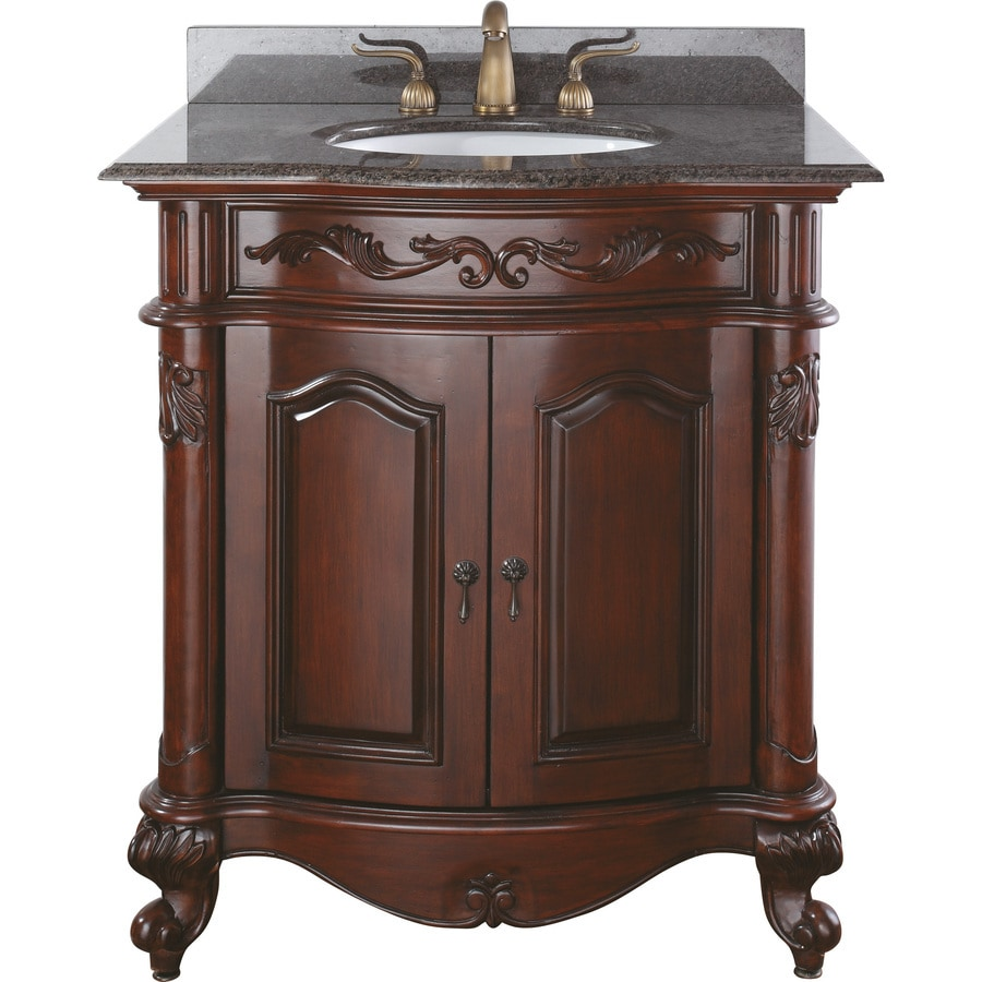 Avanity Provence 30 In Vanity Combo Brown Granite Top