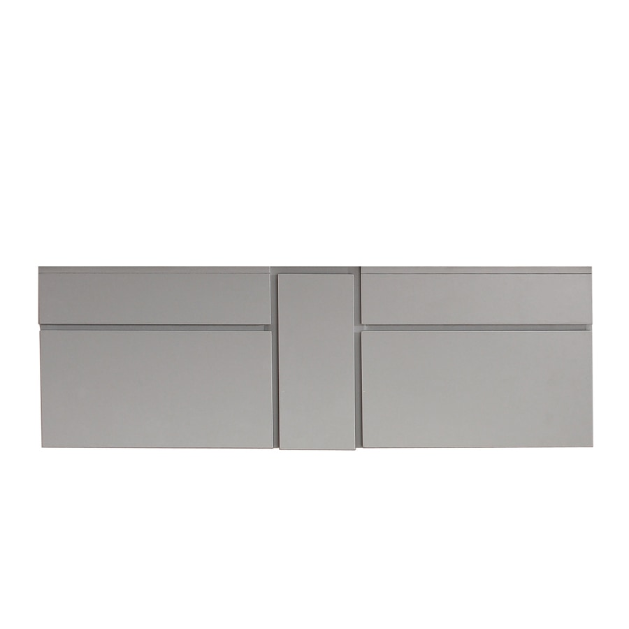 Avanity Tribeca 60 In Wall Mounted Vanity Only Chilled Gray Finish