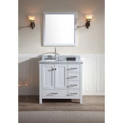 """ATLAS ARIEL Cambridge 37"""" Single Sink Vanity Set Model 151724491 Bathroom Vanities"""