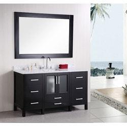 """Design Element Stanton 60"""" Single Sink Vanity Set Model 151724001 Bathroom Vanities"""