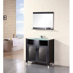 """Design Element Waterfall 36"""" Single Sink Vanity Set Model 151722911 Bathroom Vanities"""