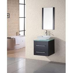 """Design Element Portland 24"""" Single Sink Wall Mount Vanity Set Model 151723091 Bathroom Vanities"""