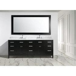 """Design Element London 84"""" Double Sink Vanity Set Model 151723151 Bathroom Vanities"""