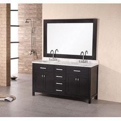 """Design Element London 61"""" Double Sink Vanity Set Model 151723171 Bathroom Vanities"""