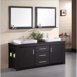 """Design Element Washington 72"""" Double Sink Vanity Set Model 151723681 Bathroom Vanities"""