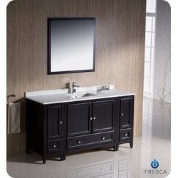 "Fresca Oxford 60"" Traditional Bathroom Vanity Type 151630271 Bathroom Vanities in Canada"