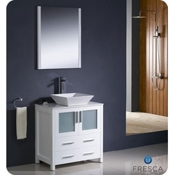 "Fresca Torino 30"" Modern Bathroom Vanity Model 151630111 Bathroom Vanities"