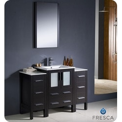 "Fresca Torino 48"" Modern Bathroom Vanity with 2 Side Cabinets Model 151630791 Bathroom Vanities"