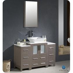 "Fresca Torino 48"" Modern Bathroom Vanity with 2 Side Cabinets Model 151630821 Bathroom Vanities"