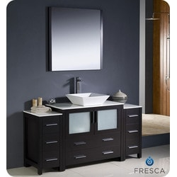"Fresca Torino 60"" Modern Bathroom Vanity with 2 Side Cabinets Type 151630961 Bathroom Vanities in Canada"
