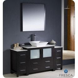 "Fresca Torino 60"" Modern Bathroom Vanity with 2 Side Cabinets Type 151630961 Bathroom Vanities in Canada"