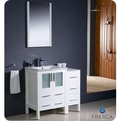 "Fresca Torino 36"" Modern Bathroom Vanity with Side Cabinet Type 151631171 Bathroom Vanities in Canada"
