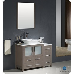 "Fresca Torino 42"" Modern Bathroom Vanity with Side Cabinet Type 151631301 Bathroom Vanities in Canada"