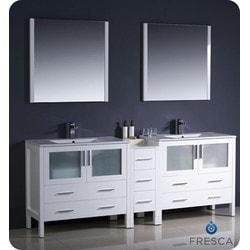 "Fresca Torino 84"" Modern Double Sink Bathroom Vanity with Side Cabinet Type 151631411 Bathroom Vanities in Canada"