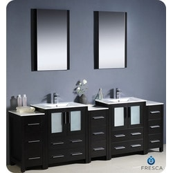 "Fresca Torino 84"" Modern Double Sink Bathroom Vanity with 3 Side Cabinets Type 151631521 Bathroom Vanities in Canada"